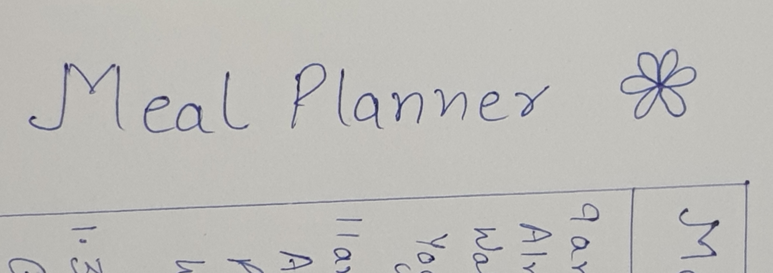 A meal planner